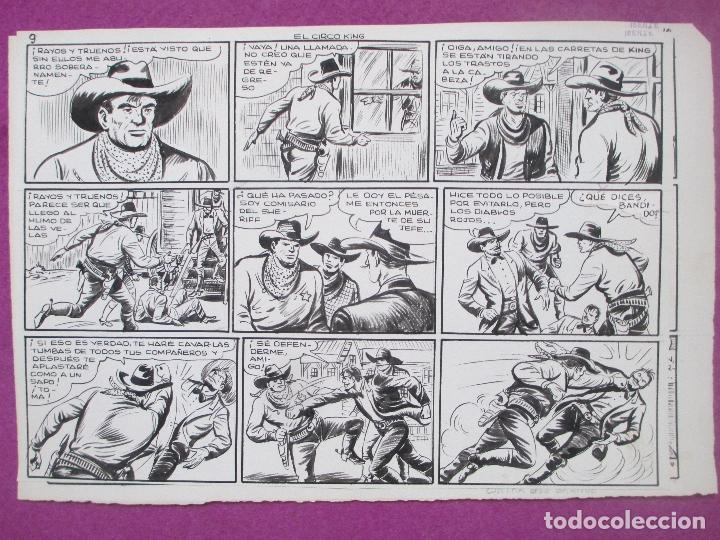 Cómics: DIBUJO ORIGINAL PLUMILLA, EL PEQUEÑO LUCHADOR, EL CIRCO KING, Nº173, PORTADA + 10 HOJAS - Foto 10 - 196918782
