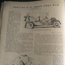 Cómics: REPORTAJE HUMORÍSTICO, CON ILUSTRACIONES DE GEORGE EVANS. ORIGINAL AÑO 1925. 24 X 32 CM. EN INGLÉS.. Lote 197056601