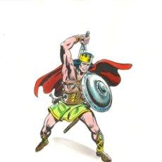 Cómics: REY KULL - KING KULL. ACUARELAS ORIGINALES DE RAFAEL LÓPEZ ESPÍ. ROBERT E HOWARD. Lote 217272911