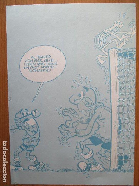 Cómics: MORTADELO, DIBUJO Y FIRMA ORIGINAL DE SU CREADOR IBAÑEZ. PLANCHAS ORIGINALES. - Foto 6 - 197275033