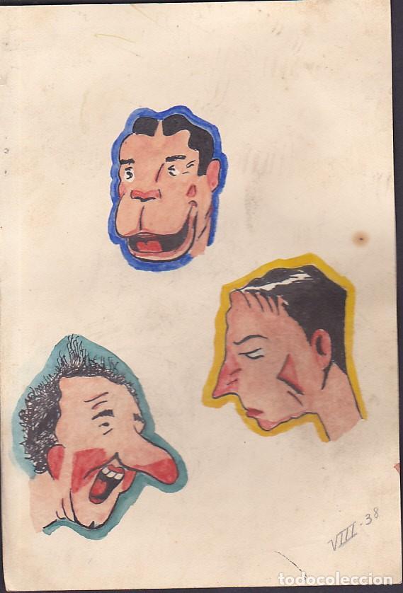 DIBUJO ORIGINAL ESCOBAR ? BUSTER KEATON Y OTROS HUMORISTAS (Tebeos y Comics - Art Comic)