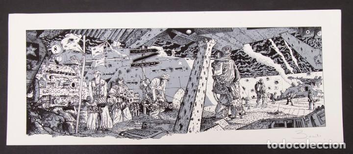 Cómics: Cinemascope: 7 Serigrafías - Loustal, Denis Sire, Max, Ben Radis, Mezzo, Benito & Vuellemin - 1985 - Foto 10 - 197717211