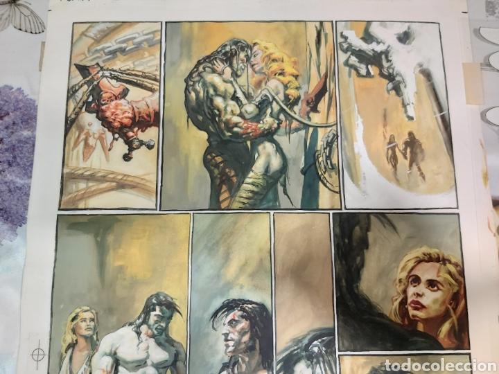 Cómics: Página original de Slaine dibujada por Rafa Garrés - Foto 3 - 198255618