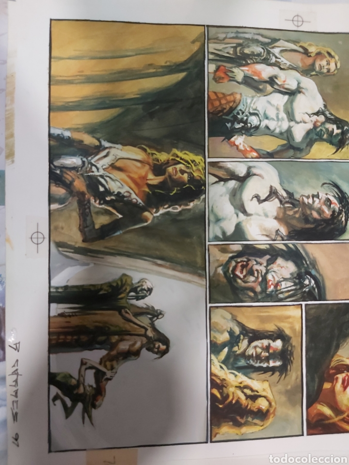 Cómics: Página original de Slaine dibujada por Rafa Garrés - Foto 4 - 198255618
