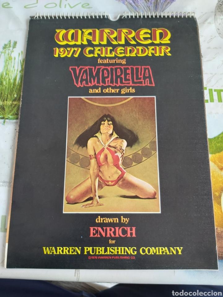 WARREN 1977 CALENDAR, VAMPIRELLA ENRICH (Tebeos y Comics - Art Comic)