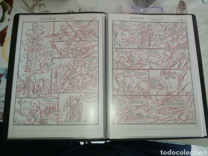 Cómics: Despertares de Alfonso Azpiri story board de todo el álbum - Foto 10 - 198921487