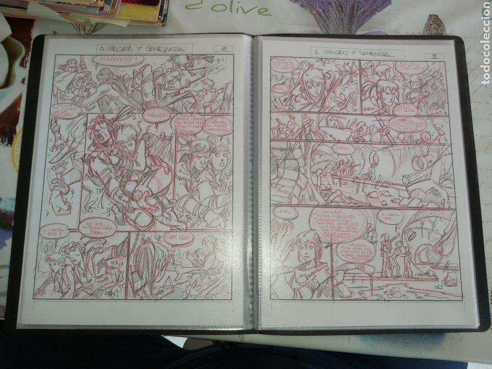 Cómics: Despertares de Alfonso Azpiri story board de todo el álbum - Foto 22 - 198921487