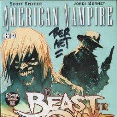 Comics: AMERICAN VAMPIRE Nº 3 DE SCOTT SNYDER Y JORDI BERNET DC COMICS FIRMADO. Lote 198934370