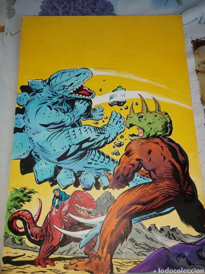 PORTADA ORIGINAL LE LÓPEZ ESPÍ PARA DINOSAURIO DIABOLICO 2 VÉRTICE, IMITA A JACK KIRBY (Tebeos y Comics - Art Comic)