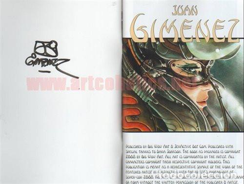 Cómics: Juan Giménez sketchbook Libro de bocetos/ilustración FIRMADO Big Wow - Foto 2 - 199122381
