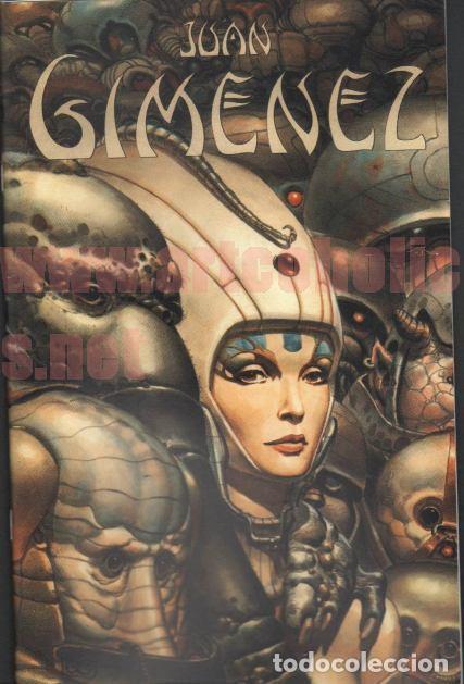 JUAN GIMÉNEZ SKETCHBOOK LIBRO DE BOCETOS/ILUSTRACIÓN FIRMADO BIG WOW (Tebeos y Comics - Art Comic)