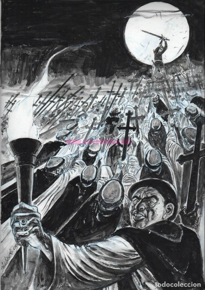 ILUSTRACIÓN ORIGINAL DE ADOLFO USERO: INQUISICIÓNFIRMADA (Tebeos y Comics - Art Comic)