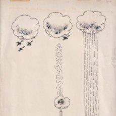 Cómics: DIBUJO ORIGINAL TINTA GARCIA LORENTE 31 X 22 FIRMADO. Lote 199667155