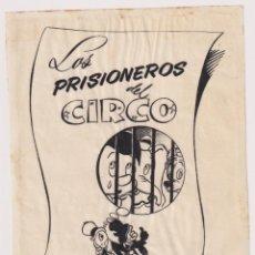 Cómics: DIBUJO ORIGINAL PORTADA WALT DISNEY LOS PRISIONEROS DEL CIRCO ED. ROMA .. Lote 199846802