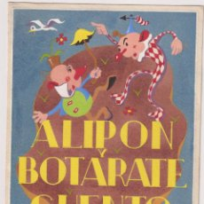 Cómics: ALIPON Y BOTARATE DIBUJO ORIGINAL PORTADA DEL CUENTO EDITADO POR EDITORIAL ROMA AÑOS 40. Lote 199861478