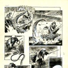 Cómics: DIBUJO ORIGINAL DE HORACIO LALIA - NEKRODAMUS, FONTAMARA P.5, SKORPIO N.66 AÑO 1975. Lote 200272386