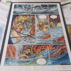 Comics : LORNA LEVIATÁN PAGINA ORIGINAL DE ALFONSO AZPIRI. Lote 203038452