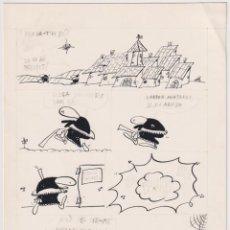 Cómics: FER (JOSÉ ANTONIO FERNÁNDEZ FERNÁNDEZ) MANSILLA, 1949 HISTORIETA CON DIBUJO ORIGINAL A TINTA AÑOS 70. Lote 203326765