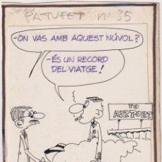 Cómics: JOMA (JOSEP MARIA RIUS ORTIGOSA) BARCELONA 1954 DIBUJO ORIGINAL PUBLICADO EN PATUFET Nº 35 EN 1970. Lote 203877916