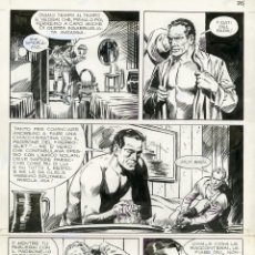 Cómics: DIBUJO ORIGINAL DE JESÚS BLASCO - TEX - LA BANDA DEL TESCHIO P.62, BONELLI EDITORE 1973. Lote 203983350