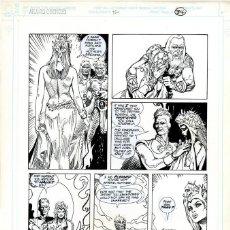 Cómics: DIBUJO ORIGINAL DE ESTEBAN MAROTO - THE ATLANTIS CHRONICLES N.4 P.34, DC COMICS. Lote 204061837
