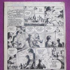 Cómics: DIBUJO ORIGINAL PLUMILLA MOMENTOS DE ANGUSTIA 1966 GUERRERO 2 HOJAS G21. Lote 204635872