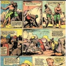 Cómics: DIBUJO ORIGINAL DE JESÚS BLASCO - CUTO, EL MUNDO PERDIDO P.42, REVISTA CHICOS N.243 AÑO 1943. Lote 204972457