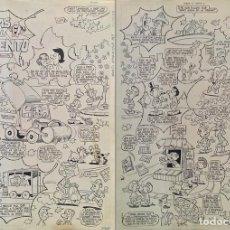 """Comics : """"RISAS AL VIENTO"""", HISTORIETA DE DOS PÁGINAS ORIGINAL DE JOSÉ SANCHIS (ED. VALENCIANA). Lote 205055198"""