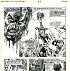 Comics: DIBUJO ORIGINAL DE ESTEBAN MAROTO - DRÁCULA VLAD THE IMPALER N.3 P.18, TOPPS COMICS. Lote 206210232