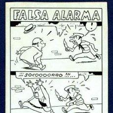Cómics: ORIGINAL JOSEP COLL PUBLICADO EN LA REVISTA TBO - FALSA ALARMA. Lote 206324257