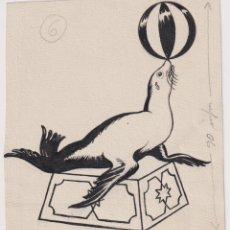 Cómics: EMILIO FREIXAS ARANGUREN (BARCELONA 1899 - 1976). DIBUJO ORIGINAL TINTA CHINA EMILIO FREIXAS AR. Lote 206440720