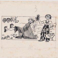 Cómics: DIBUJO ORIGINAL DE PUIG FIRMADO Y PUBLICADO EN PATUFET AÑOS 60. Lote 206445063
