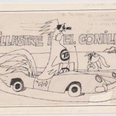 Cómics: DIBUJO ORIGINAL DE PUIG FIRMADO Y PUBLICADO EN PATUFET AÑOS 60. Lote 206445682