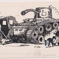 Cómics: ISIDRE MONES PONS (BARCELONA 1947) DIBUJO ORIGINAL A TINTA PARA PATUFET DIBUJANTE, ILUSTRADOR, PINT. Lote 206446038