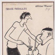 Cómics: ULISSES TRAVER TORMO. BARCELONA 1915. DIBUJO ORIGINAL PUBLICADO EN PATUFET PINTOR Y DIBUJANTE ULISS. Lote 206446467