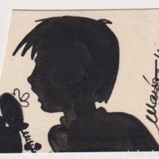 Cómics: MARÍA PITARCH TORRA, SABADELL 1947 DIBUJO ORIGINAL PUBLICADO EN PATUFETNº 38 CONOCIDA PINTORA MARÍA. Lote 206446826