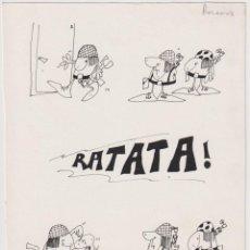 Cómics: FER (JOSÉ ANTONIO FERNÁNDEZ FERNÁNDEZ) MANSILLA, 1949 HISTORIETA CON DIBUJO ORIGINAL A TINTA AÑOS 70. Lote 206447485