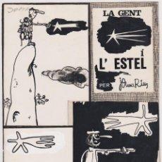 Cómics: JOMA (JOSEP MARIA RIUS ORTIGOSA) BARCELONA 1954 DIBUJO ORIGINAL PUBLICADO EN PATUFET AÑOS 60. Lote 206447698