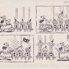 Cómics: ALFONSO (JOSÉ ALFONSO LÓPEZ TUFET) LLEIDA 1950. DIBUJO ORIGINAL HISTORIETA PUBLICADA PATUFET 1971. Lote 206492353
