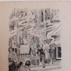 Cómics: J. VINYALS DIBUJO ORIGINAL PUBLICADO EN LA BIBLIOTECA DE PATUFET. MARCEL DE FORTIÀ. Lote 206864161