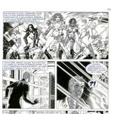 Cómics: DIBUJO ORIGINAL DE ESTEBAN MAROTO - DHAMPIR - IL TRONO DEL DIO OSCURO P.36, BONELLI EDITORE. Lote 206957331