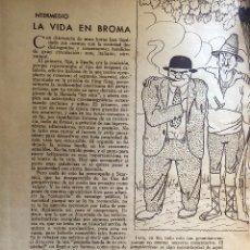 Cómics: ARTÍCULO DEL PRENSA AÑO 1935. CON ILUSTRACIONES DE RAMÓN LÓPEZ MONTENEGRO 'CYRANO'. 2 PÁGINAS.. Lote 207958446