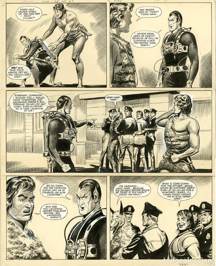 DIBUJO ORIGINAL DE REG BUNN - THE SPIDER OCT 1967, EDITORIAL VALIANT AÑO 1967 (Tebeos y Comics - Art Comic)