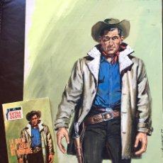 Cómics: DIBUJO PORTADA ORIGINAL A.SANTIAGO CHICHARRO 1966 LA BALA QUE LLEVA MI NOMBRE EXTRA OESTE + NOVELA. Lote 209861100