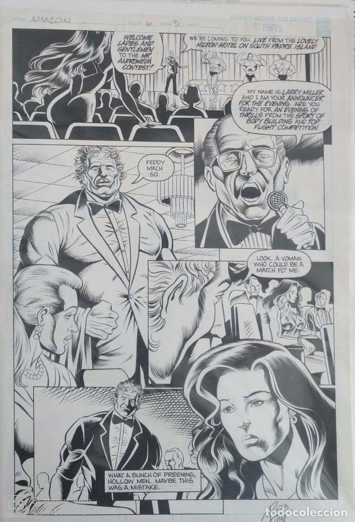 PÁGINA ORIGINAL AMAZON - ROBB PHIPPS (Tebeos y Comics - Art Comic)