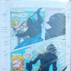 Comics: ORIGINAL COLOR AQUAMAN. Lote 210166911