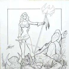 "Cómics: ORIGINAL RED SONJA - ANGEL ""PAT"" GABRIELE. Lote 210555655"