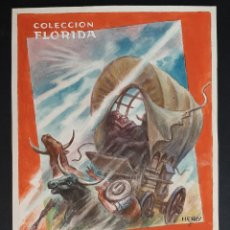 Cómics: DIBUJO ORIGINAL COLOR HENRY PERTEGAS COLECCION FLORIDA Nº 21 LA INVASION , M7. Lote 211890010