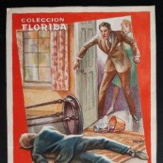 Cómics: DIBUJO ORIGINAL COLOR HENRY PERTEGAS COLECCION FLORIDA Nº 21 EL FISCAL ACUSA , M7. Lote 211890103