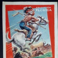 Cómics: DIBUJO ORIGINAL COLOR HENRY PERTEGAS SIN FIRMAR COLECCION FLORIDA Nº 14 FUGITIVOS , M7. Lote 211890243